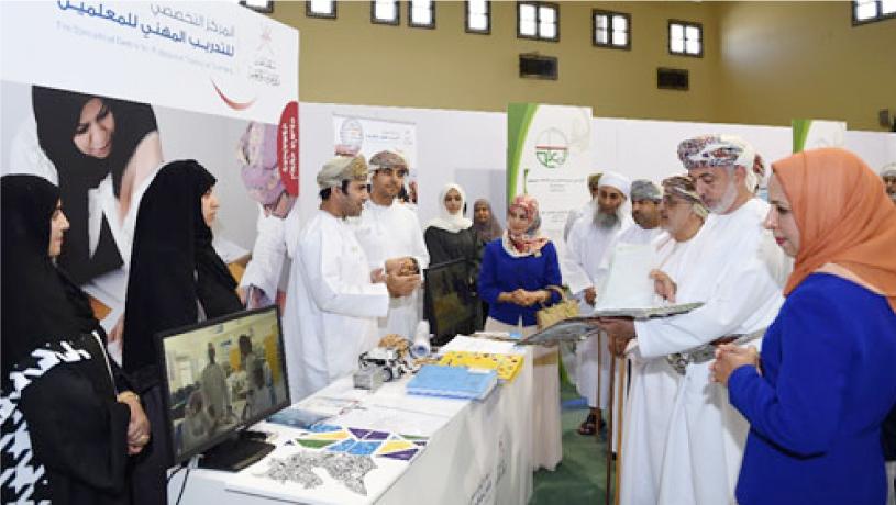 مشاركة المركز التخصصي للتدريب المهني في معرض يوم المعلم